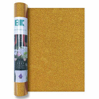 Best Creation Inc - Glitter Iron On - 12 Inch - Dark Gold