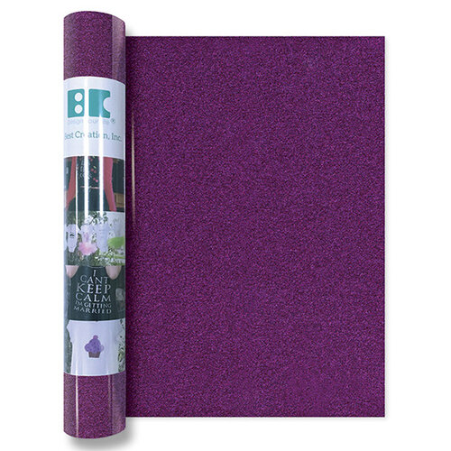 Best Creation Inc - Glitter Iron On - 12 Inch - Plum