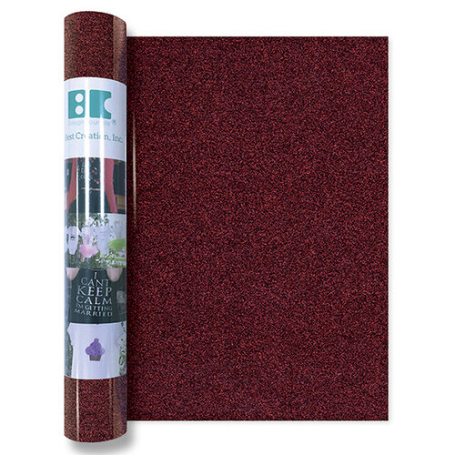 Best Creation Inc - Glitter Iron On - 12 Inch - Dark Red