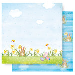 Best Creation Inc - Easter Collection - 12 x 12 Double Sided Glitter Paper - Happy Easter