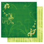 Best Creation Inc - St Patrick Collection - 12 x 12 Double Sided Glitter Paper - Luck