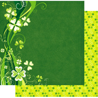 Best Creation Inc - Green Day Collection - 12 x 12 Double Sided Glitter Paper - Luck O' The Irish