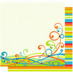 Best Creation Inc - Transportation Collection - 12 x 12 Double Sided Glitter Paper - Transportation Swirls