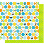 Best Creation Inc - Transportation Collection - 12 x 12 Double Sided Glitter Paper - Transportation Circles