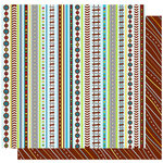 Best Creation Inc - Transportation Collection - 12 x 12 Double Sided Glitter Paper - Hit The Road Stripes