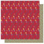 Best Creation Inc - Autumn Splendor Collection - 12 x 12 Double Sided Glitter Paper - Flower Cascade