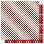 Best Creation Inc - FaLaLa Christmas Collection - 12 x 12 Double Sided Glitter Paper - Candycane Stripe