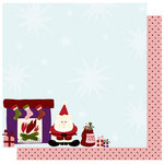 Best Creation Inc - FaLaLa Christmas Collection - 12 x 12 Double Sided Glitter Paper - Santashere L