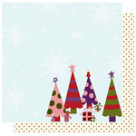 Best Creation Inc - FaLaLa Christmas Collection - 12 x 12 Double Sided Glitter Paper - Santashere R