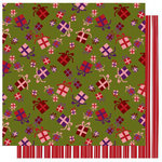 Best Creation Inc - FaLaLa Christmas Collection - 12 x 12 Double Sided Glitter Paper - Gifts