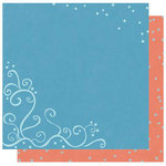 Best Creation Inc - Winter Wonderful Collection - Christmas - 12 x 12 Double Sided Glitter Paper - Snow Swirl Cluster