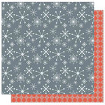 Best Creation Inc - Winter Wonderful Collection - Christmas - 12 x 12 Double Sided Glitter Paper - Snowflakes
