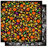 Best Creation Inc - Trick or Treat Collection - Halloween - 12 x 12 Double Sided Glitter Paper - I Want Candy