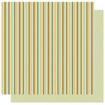 Best Creation Inc - Safari Boy Collection - 12 x 12 Double Sided Glitter Paper - Thin Stripe