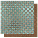 Best Creation Inc - Travel Forever Collection - 12 x 12 Double Sided Glitter Paper - Northeast and Southwest
