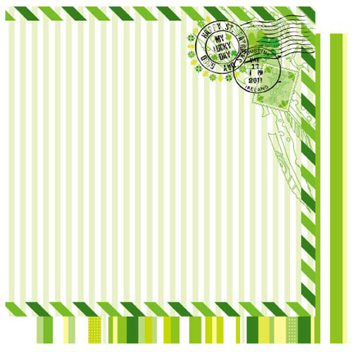 Best Creation Inc - St. Patrick Collection - 12 x 12 Double Sided Glitter Paper - My Lucky Day
