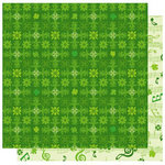 Best Creation Inc - St. Patrick Collection - 12 x 12 Double Sided Glitter Paper - Green Day