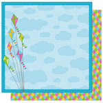 Best Creation Inc - Jubilee Collection - 12 x 12 Double Sided Glitter Paper - Let's Fly a Kite