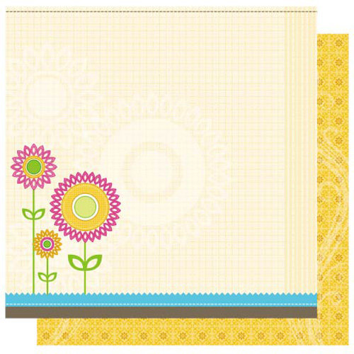 Best Creation Inc - Jubilee Collection - 12 x 12 Double Sided Glitter Paper - Sun Shiny Days