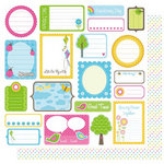 Best Creation Inc - Jubilee Collection - 12 x 12 Double Sided Glitter Paper - Jubilee Tags