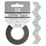 Best Creation Inc - Glitter Tape - Chevron - Silver