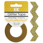Best Creation Inc - Glitter Tape - Chevron - Gold