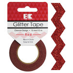 Best Creation Inc - Glitter Tape - Chevron - Red
