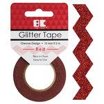 Best Creation Inc - Glitter Tape - Chevron - Red