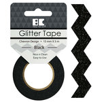 Best Creation Inc - Glitter Tape - Chevron - Black