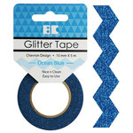 Best Creation Inc - Glitter Tape - Chevron - Ocean Blue