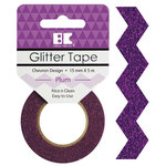 Best Creation Inc - Glitter Tape - Chevron - Plum