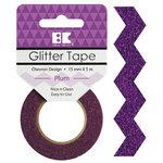 Best Creation Inc - Glitter Tape - Chevron - Plum