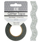Best Creation Inc - Glitter Tape - Wave - Silver