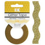 Best Creation Inc - Glitter Tape - Wave - Gold