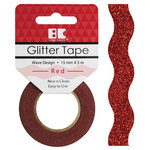 Best Creation Inc - Glitter Tape - Wave - Red