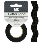 Best Creation Inc - Glitter Tape - Wave - Black