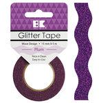 Best Creation Inc - Glitter Tape - Wave - Plum