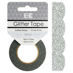 Best Creation Inc - Glitter Tape - Scallop - Silver