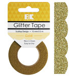 Best Creation Inc - Glitter Tape - Scallop - Gold