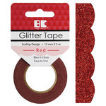 Best Creation Inc - Glitter Tape - Scallop - Red