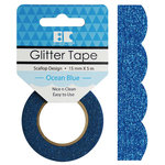 Best Creation Inc - Glitter Tape - Scallop - Ocean Blue