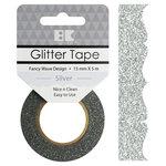 Best Creation Inc - Glitter Tape - Fancy Wave - Silver