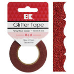 Best Creation Inc - Glitter Tape - Fancy Wave - Red