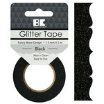 Best Creation Inc - Glitter Tape - Fancy Wave - Black