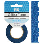 Best Creation Inc - Glitter Tape - Fancy Wave - Ocean Blue