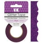 Best Creation Inc - Glitter Tape - Fancy Wave - Plum