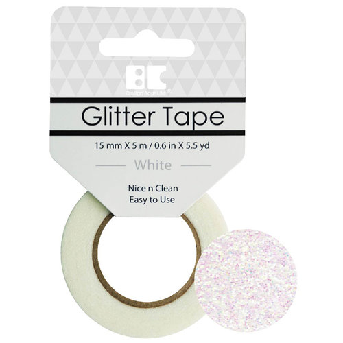 Best Creation Inc - Glitter Tape - White