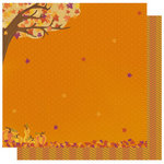 Best Creation Inc - Hello Fall Collection - 12 x 12 Double Sided Glitter Paper - Fall Foliage