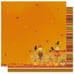 Best Creation Inc - Hello Fall Collection - 12 x 12 Double Sided Glitter Paper - Feels Like Fall