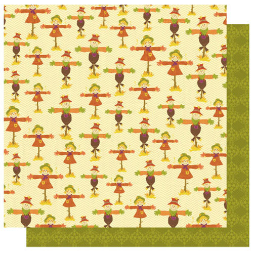 Best Creation Inc - Hello Fall Collection - 12 x 12 Double Sided Glitter Paper - Scaring Crows
